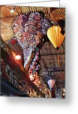 Mosaic Pillar Greeting Card