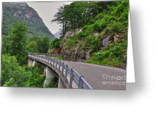 Mountain Road Greeting Card