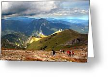 Mountains Stormy Landscape Greeting Card