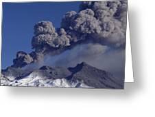 Mt Ruapehu 1996 Eruption New Zealand Greeting Card