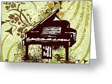 Musical Backgrounds With Instraments Greeting Card