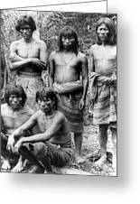 Native Brazilians Greeting Card
