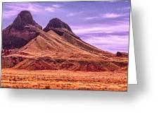 Navajo Nation Series Along 87 And 15 Greeting Card