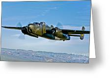 North American B-25g Mitchell Bomber Greeting Card