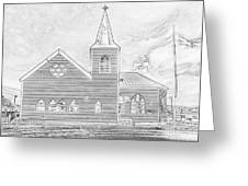 Norwegian Church Cardiff Bay Greeting Card
