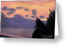 Pastel Palm Tree Sunrise Greeting Card