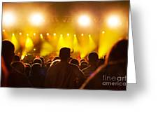 People On Music Concert Greeting Card