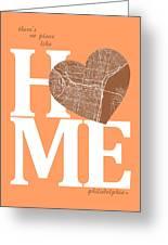 Philadelphia Street Map Home Heart - Philadelphia Pennsylvania R Greeting Card