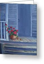 Porch Flowers Greeting Card by Glenda Barrett