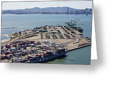 Port Of Oakland, Oakland Greeting Card