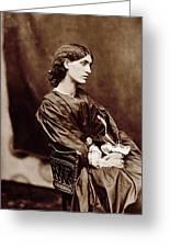 Portrait Of Jane Morris Greeting Card