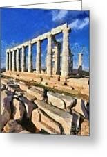 Poseidon Temple Greeting Card
