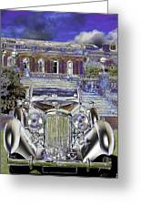 Psychedelic Classic Lagonda Greeting Card