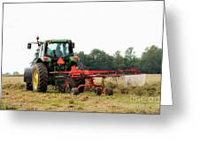 Raking Hay Greeting Card