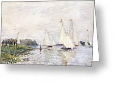 Regatta At Argenteuil Greeting Card