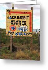 Route 66 - Jack Rabbit Trading Post Greeting Card