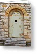 Route 66 - Macoupin County Jail Greeting Card
