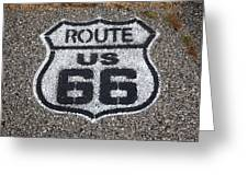 Route 66 Shield Greeting Card