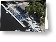 Sailing Boats In Charles River, Boston Greeting Card