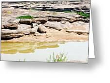 Sam Phan Bhok Grand Canyon In Mekong River In Ubon Ratchathanee Greeting Card