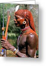 Samburu Warrior Greeting Card