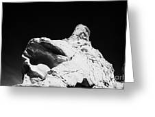 Sandstone Rock Formations On Mouses Tank Trail Valley Of Fire State Park Nevada Usa Greeting Card