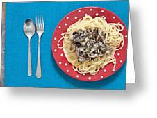 Sardines And Spaghetti Greeting Card