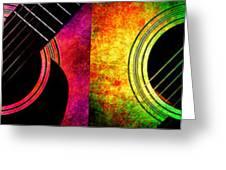 4 Seasons Guitars Panorama Greeting Card
