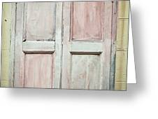 Shutters Greeting Card by Tom Gowanlock