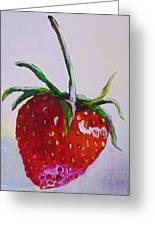Single Strawberry Greeting Card