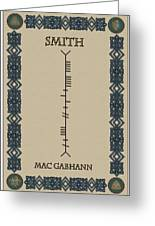 Smith Written In Ogham Greeting Card