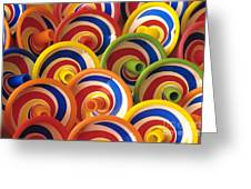 Spinning Tops Greeting Card