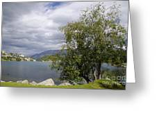 St Moritz Lake Greeting Card