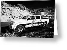 State Park Ranger Vehicles At The Valley Of Fire State Park Nevada Usa Greeting Card