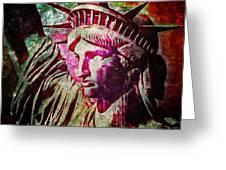 Statue Liberty Greeting Card