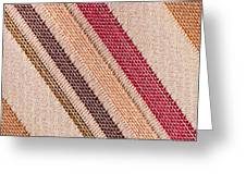 Striped Material Greeting Card