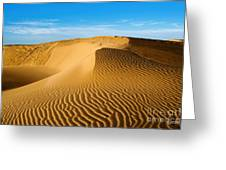 Sunrise At Oceano Sand Dunes Greeting Card