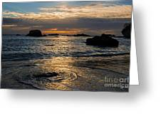 Sunset At Pismo Beach Greeting Card