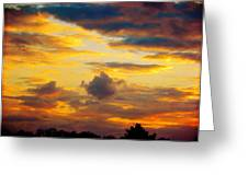 Sunset Sky By Artist Nature Greeting Card