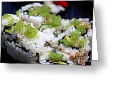 Sushi California Roll Greeting Card