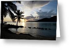 The Beach Of White Sand With Views Greeting Card