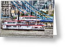 The Dixie Queen Paddle Steamer Greeting Card