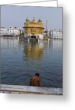The Golden Temple At Amritsar India Greeting Card