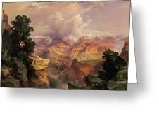 The Grand Canyon Greeting Card by Thomas Moran