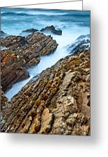 The Jagged Rocks And Cliffs Of Montana De Oro State Park In California Greeting Card