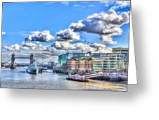 The River Thames Greeting Card