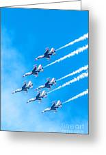 Thunderbirds And Blue Sky  Greeting Card