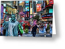 Times Square On A Tuesday Greeting Card