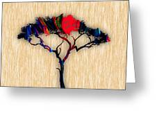 Tree Wall Art Greeting Card