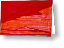 Tres Orejas Original Painting Greeting Card